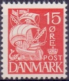 Denmark 1933-40 15ore red hook on mast