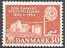 Denmark 1954 Centenary of the Danish Telegraph service