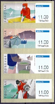 The Faroes 2019 Franking Labels Fishing