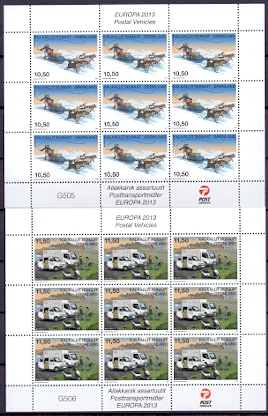 Greenland 2013 Block Europe stamps
