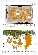 Greenland 2018 Christmas stamps from booklet