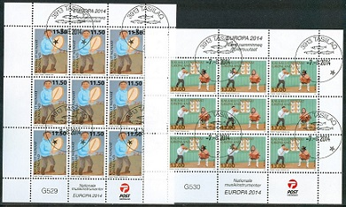 Groenland 2014 Europe Stamps miniature sheets