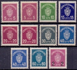 Norway 1926+29 Official Stamps