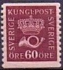 Sweden 1920-1933 60öre red-lilac Crown and Posthorn type II