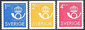 Sweden 1985 1.60+2,50+4.00kr The Post Emblem
