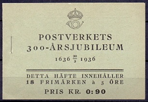 Sweden 1936 Booklet H 29 Tercentenary of the Post Office