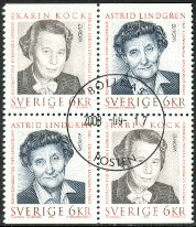 Sweden 1996 Europe Stamps Astrid Lindgren Block
