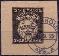 Sweden 1929 Military Reply Stamp