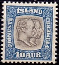 Iceland 1907 Official Stamp 10aur Two Kings