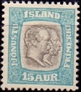 Iceland 1907 Official Stamp 15aur Two Kings