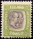 Iceland 1907 Official Stamp 20aur Two Kings