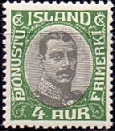 Iceland 1920-32 Official Stamp 4aur Christian X