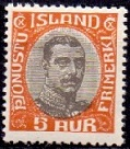 Iceland 1920-32 Official Stamp 5aur Christian X