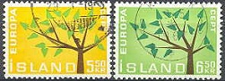 Iceland 1962 Europe Stamps