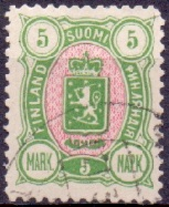Finland 1889 5mk Coat of Arms m/89