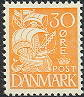 Denmark 1933 30öre yellow Ship type I