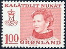 Greenland 1989 100öre Margrethe type I from H1