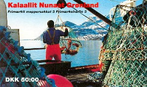Greenland 1993 Stamp Booklet Queen Margrethe IV .Crabs