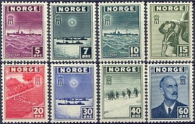 Norway 1945 London Stamps